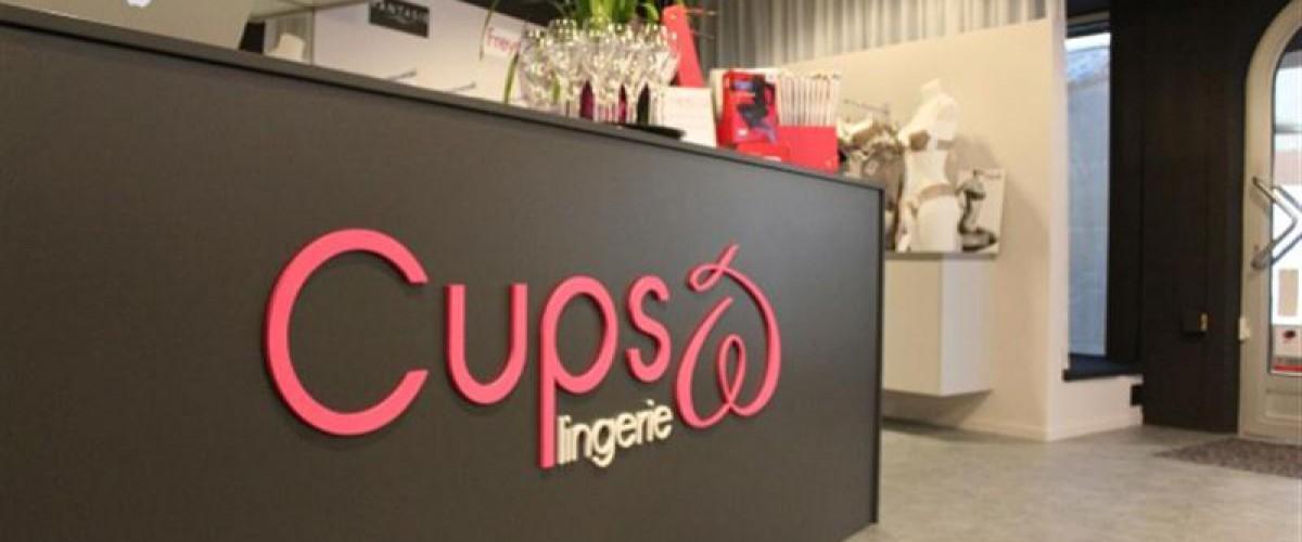 Bedrijfslogo en Gevelreclame Cups lingerie