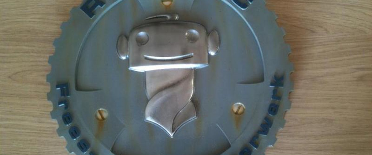RoboCNC 3D Bedrijfslogo frezen.