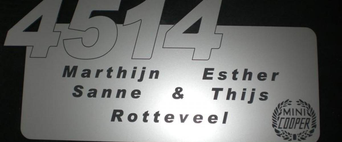 Huisnummer / naambordje.