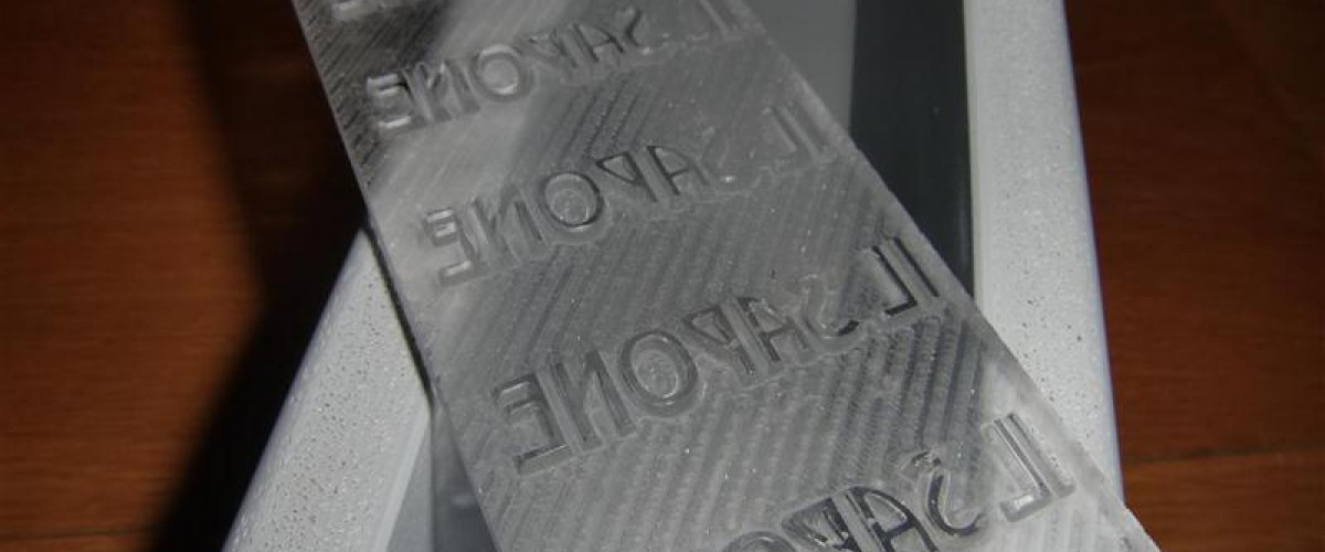 Negatief freeswerk voor zeep mal Il-Sapone
